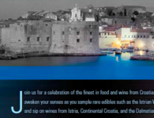 Join us for a celebration of the finest in food and wine from Croatia